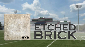 Stadium Etched Brick 8x8