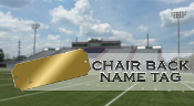 Stadium Chair Back Name Plate